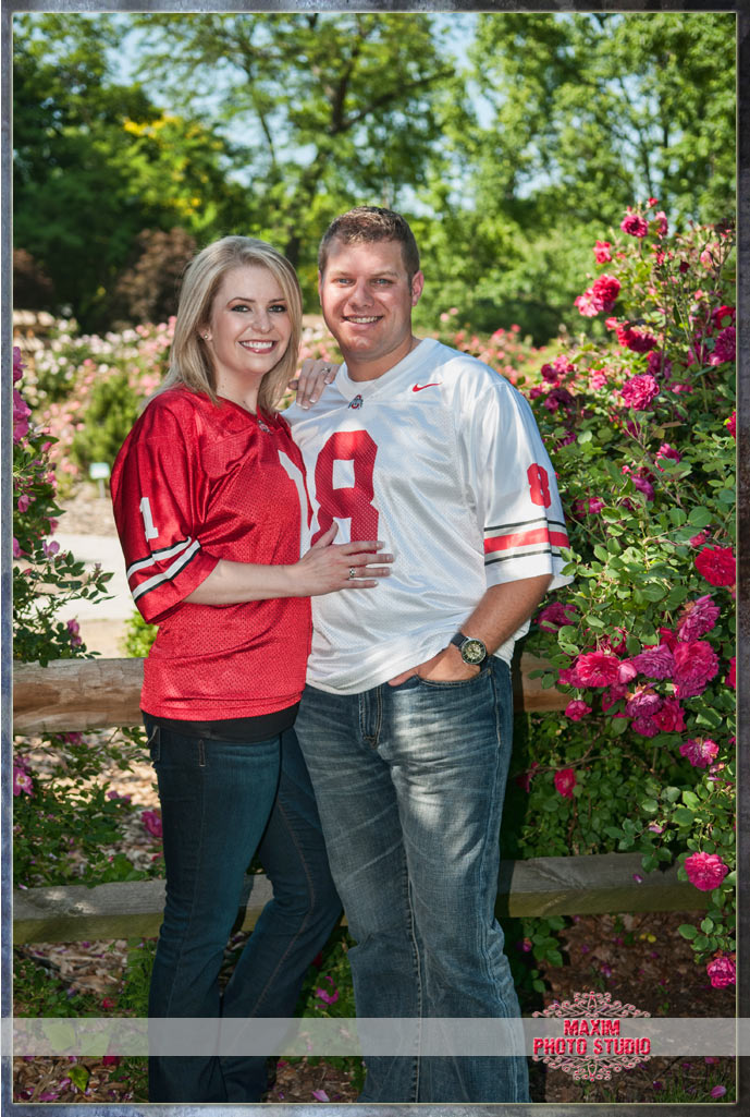 Maxim Photo Studio photographed a fun engagement at Park of Roses in Columbus